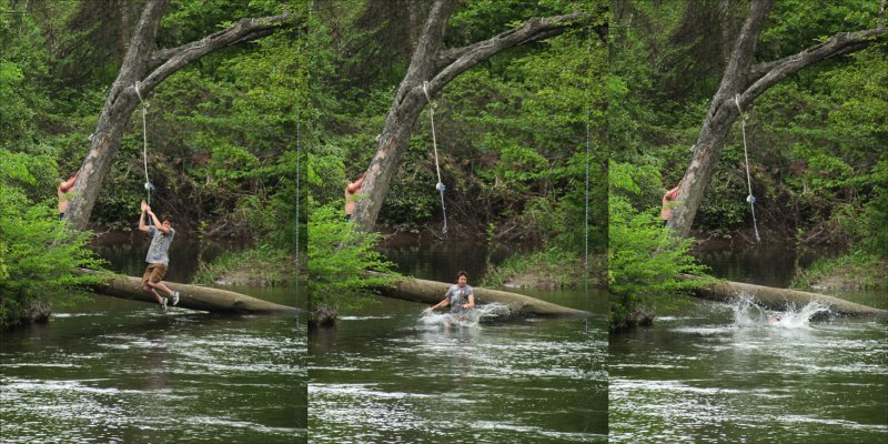 """Homage to Thomas Eakins. """"The Swimming Hole"""""""