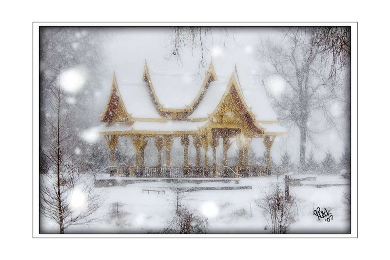 Snow Storm at the Thai Pavilion