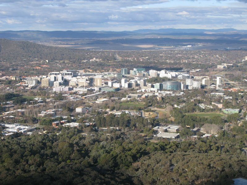 Canberra city from telstra tower