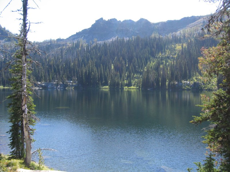 Lake near campground in MT