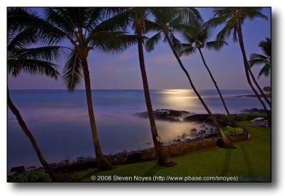 By Moonlight : Castle Kona Bali Kai : Hawaii