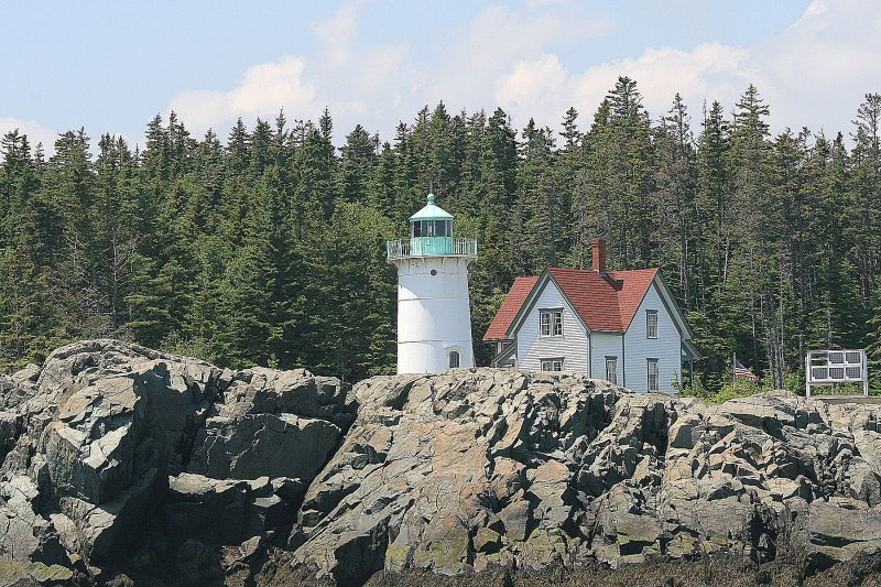 Little River Island lighthouse, which can only be viewed from a boat.
