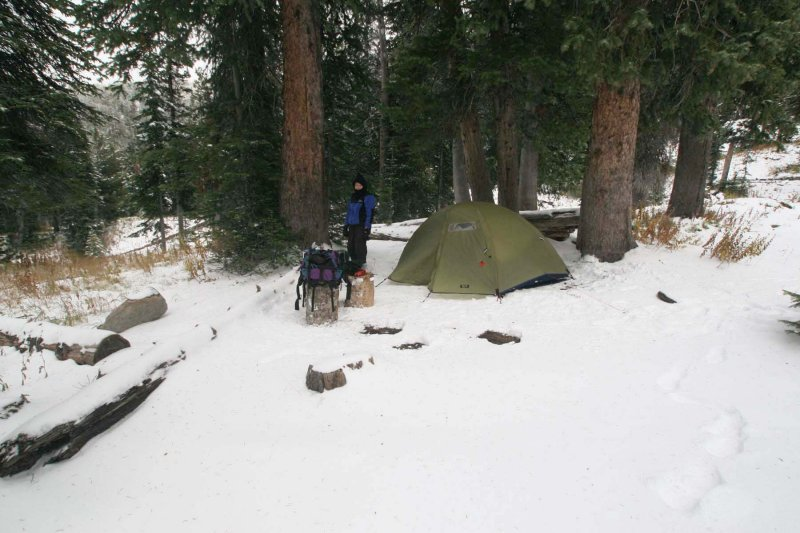 Our campsite in Upper Death Canyon