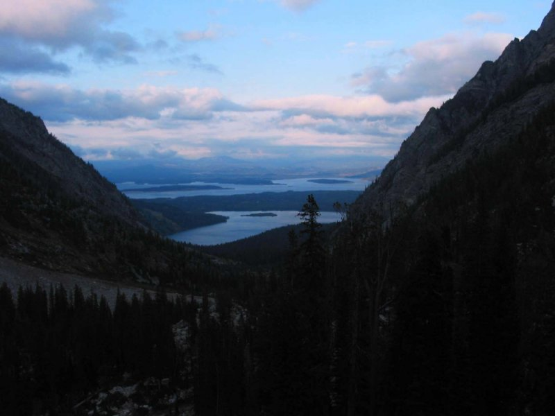 Leigh Lake (foreground) and Jackson Lake (background)