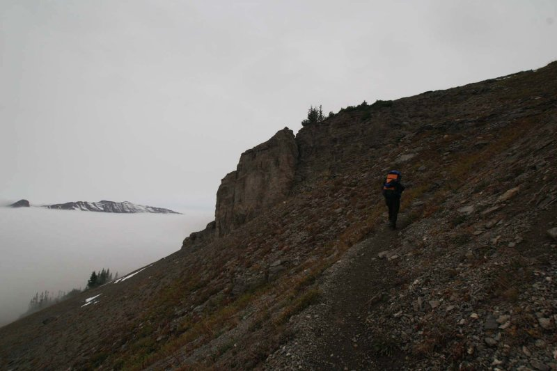 On the trail to Hurricane Pass