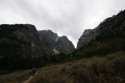 Looking up into Death Canyon