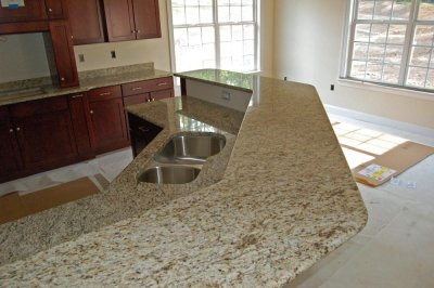 Countertops get installed