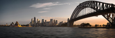 Sydney Skyline at Sunset Panorama