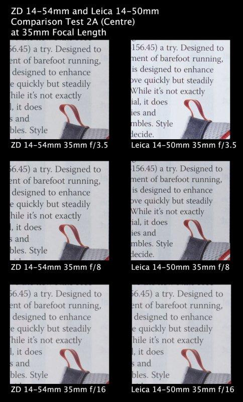 Comparison Test 2A 35mm Centre