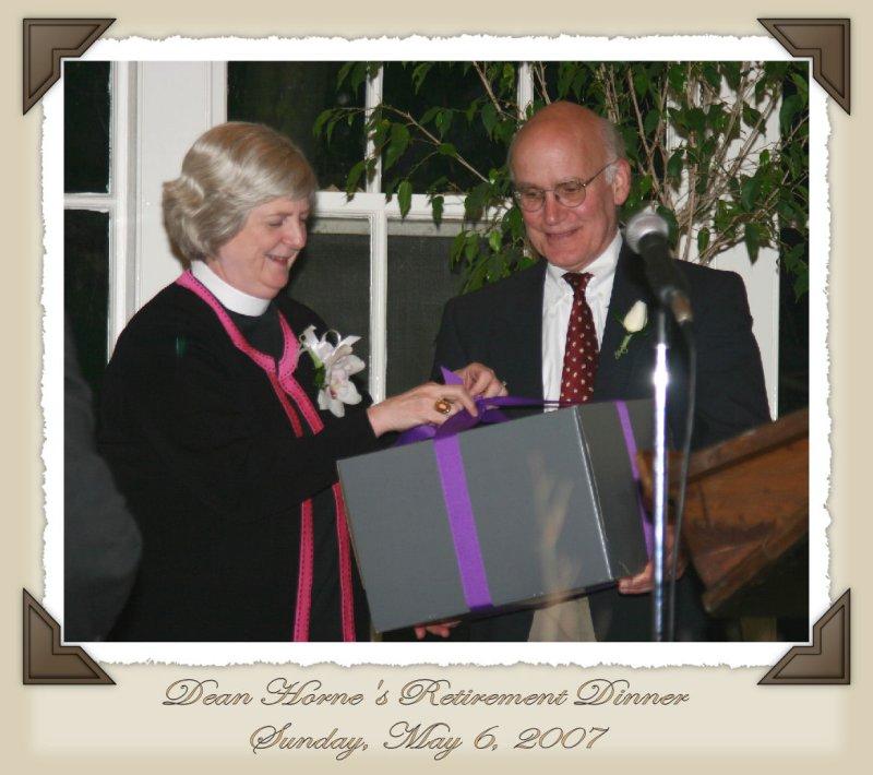 Dean Hornes Retirement Gift