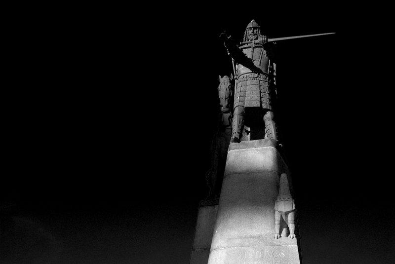 Lithuania, Vilnius, Grand Duke Gediminas Statue