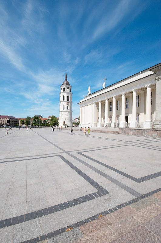 Lithuania, Vilnius cathedral and the belfry