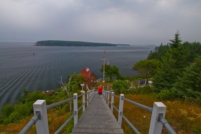 Stairs to Owls Head Light & North Haven Island
