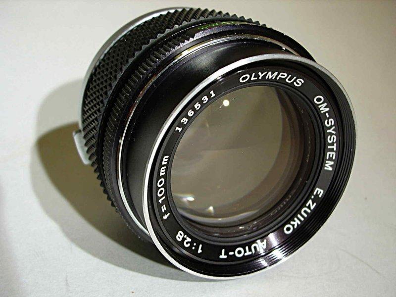 Zuiko 100mm f2.8 Front View