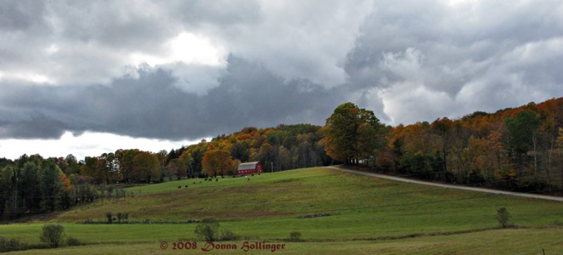 Farm with  Storm Clouds