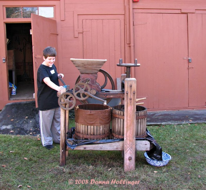 Dylan and Apple Cider Press