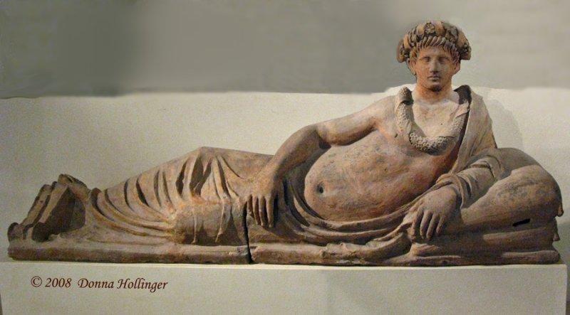 Etruscan Sarcophagus Sculpture