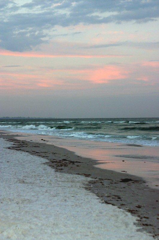 1st sunrise on Siesta Key beach