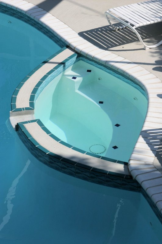 Calle Miramar jacuzzi from deck above...
