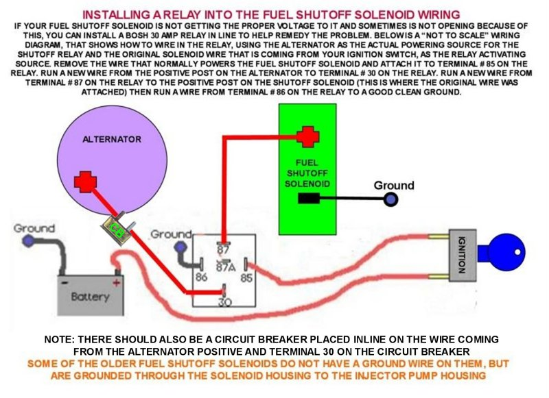 fc fuel shutoff solenoid modification repair wanderlodge owners group Start Solenoid Wiring Diagram