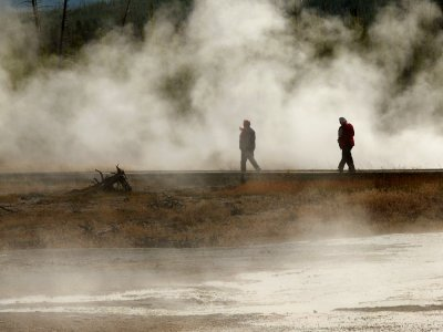 Grand Prismatic Spring, Yellowstone National Park, Wyoming, 2008