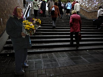 The Flower vendor, Kiev, Ukraine, 2009