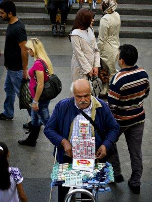 Band-aid man, Istanbul, Turkey, 2009