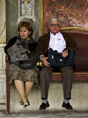 Tourists, Topkapi Palace, Istanbul, Turkey, 2009