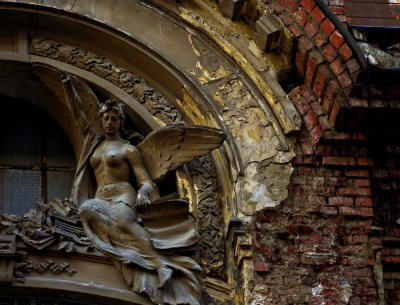 Crumbling angel, Bucharest, Romania, 2009