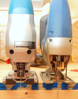Accurate Bosch (Left) / Sloppy Ryobi (Right)