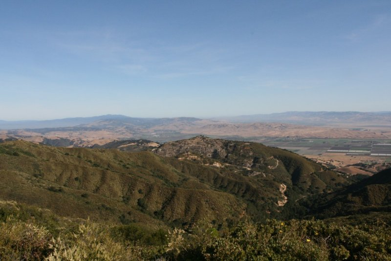 To the right is Hollister and the Salinas Valley