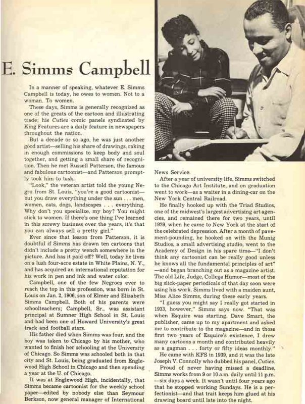 King Features biography from 1949