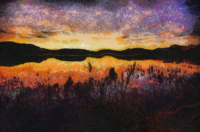 Lakeview Sunset (Purple)