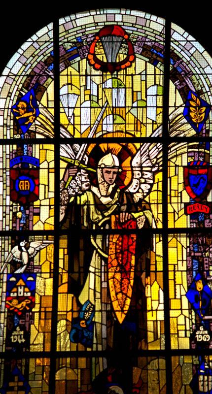 Sainte Mere Eglise window