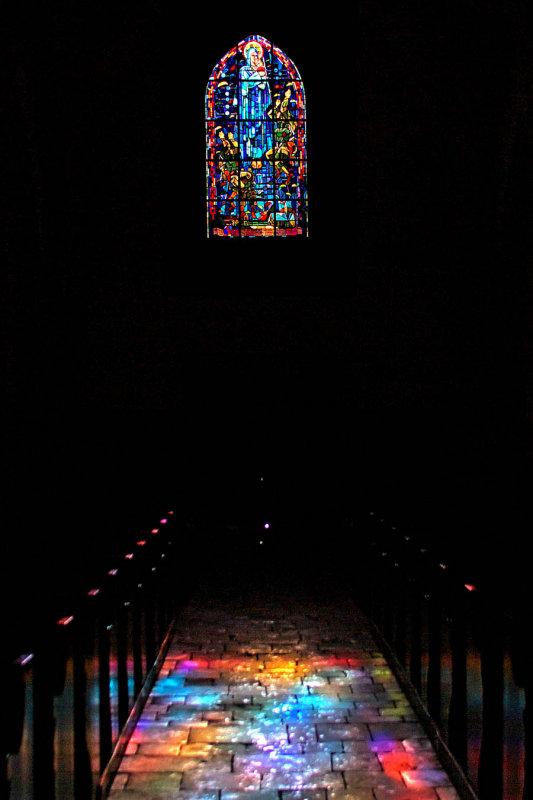 Sainte Mere Eglise window and light