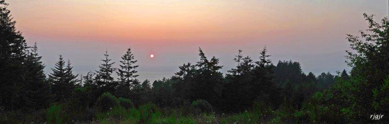 Hazy Coast Sunset