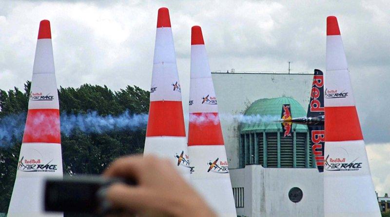 Red Bull Racer crossing finish line