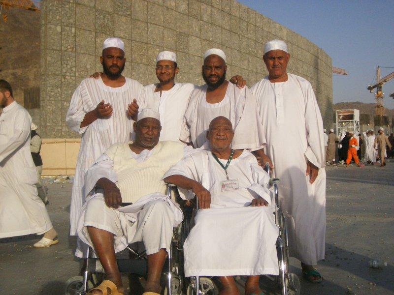 All the way from sudan,sudanese hajis.Mina