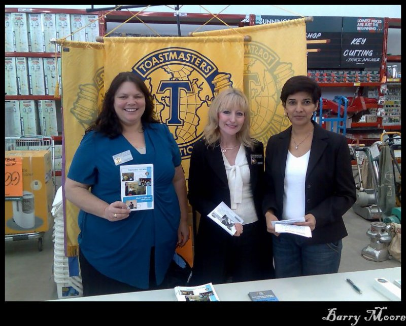 Sept 22 - Promoting Toastmasters at the local hardware store