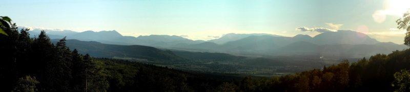 Panoramablick von Heini´s Ruh, Frohsdorf