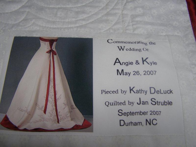 Wedding Quilt Label Ideas Yasmin Bridal