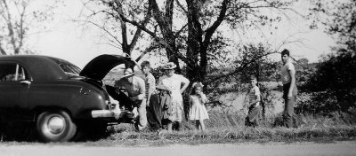 Family outing, 1948