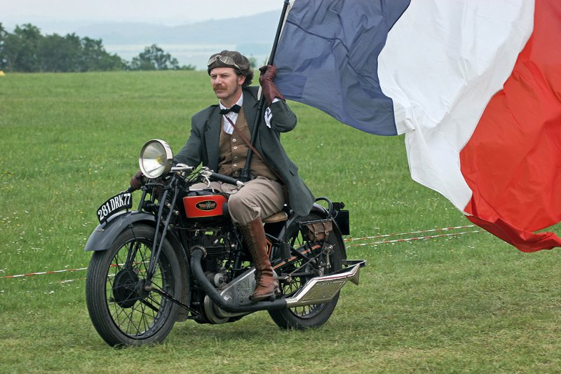Cette moto est une Gnome Rhône 500 D4 de 1928