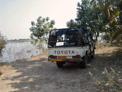 Parked in the Shade by the Zambezi