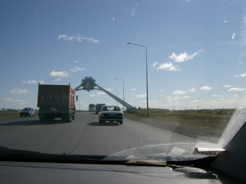Approaching the exit from Astana