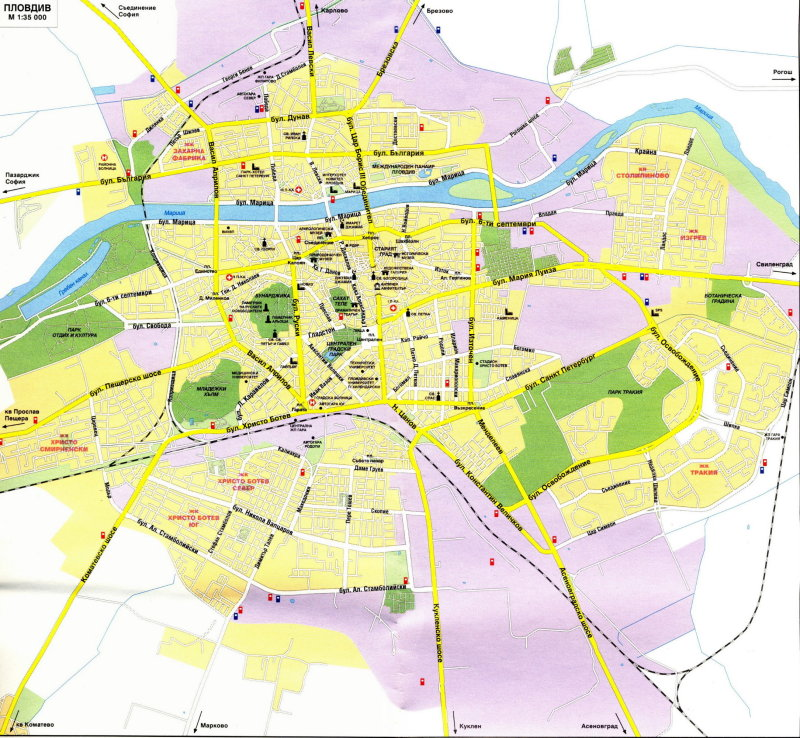 Map of Plovdiv