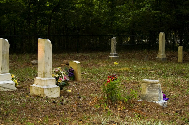 Cemetary, stone dates up to 1912