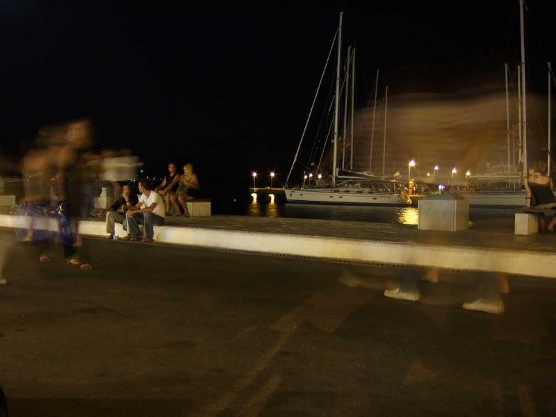 Ghosts taking a stroll along Chora seafront