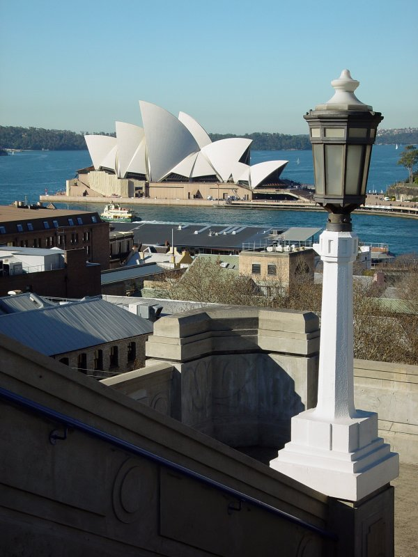 Opera House from staircase to the Bradfield Highway