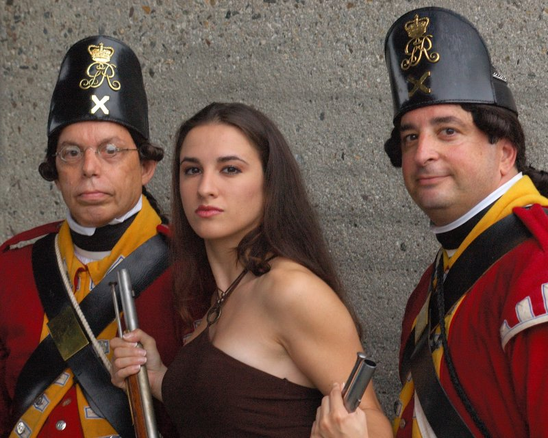 Joanna & members of His Majestys 10th Regiment of Foot